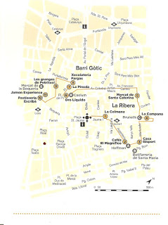 Itinerario del Gourmet Walking Tour