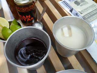 horchata e agua de jamaica